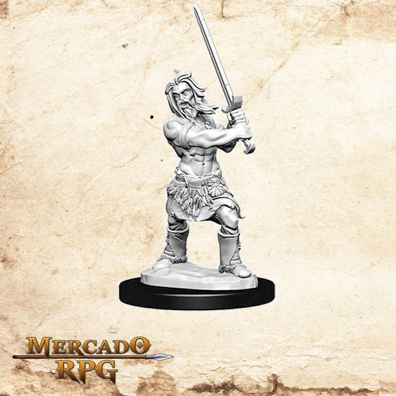 Human Male Barbarian C - Miniatura RPG