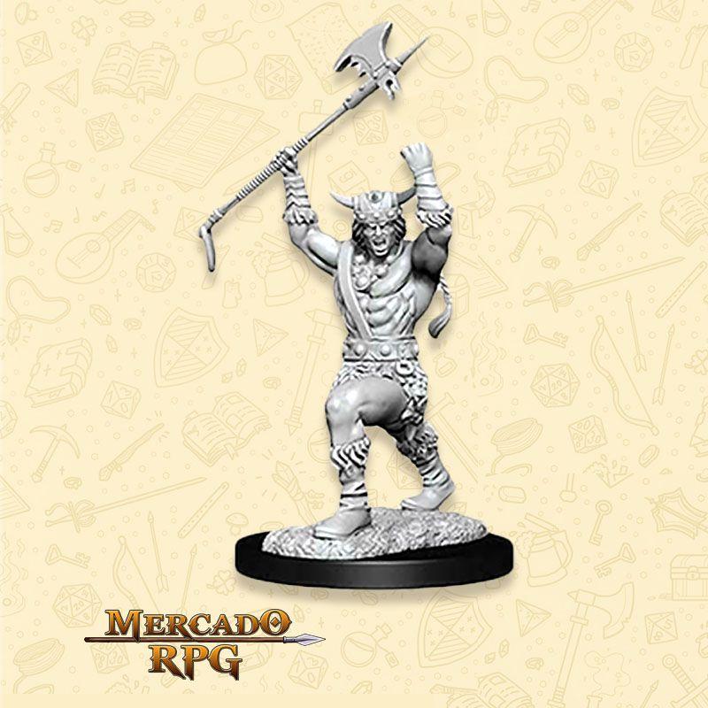 Human Male Barbarian E - Miniatura RPG  - Mercado RPG
