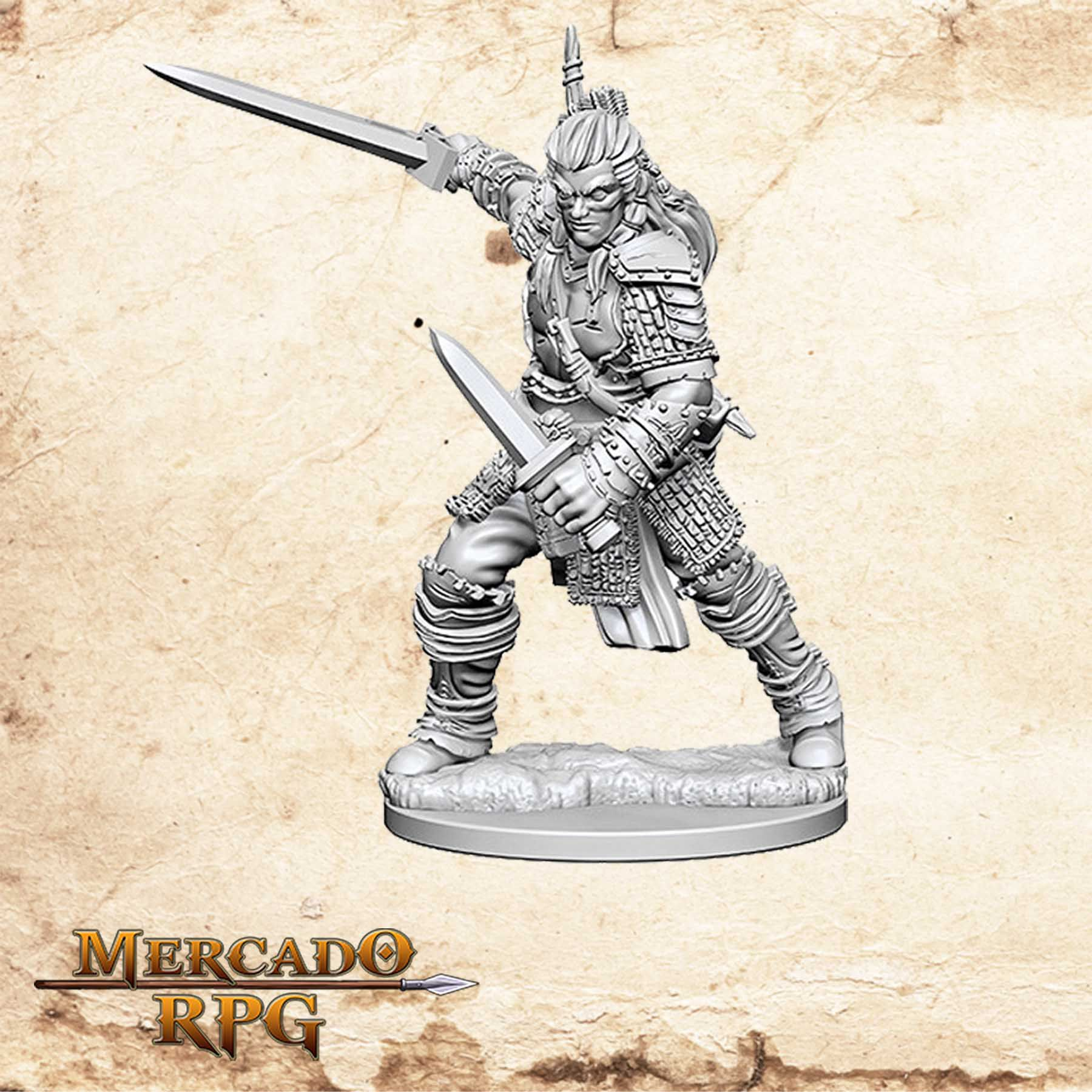 Human Male Fighter A - Miniatura RPG