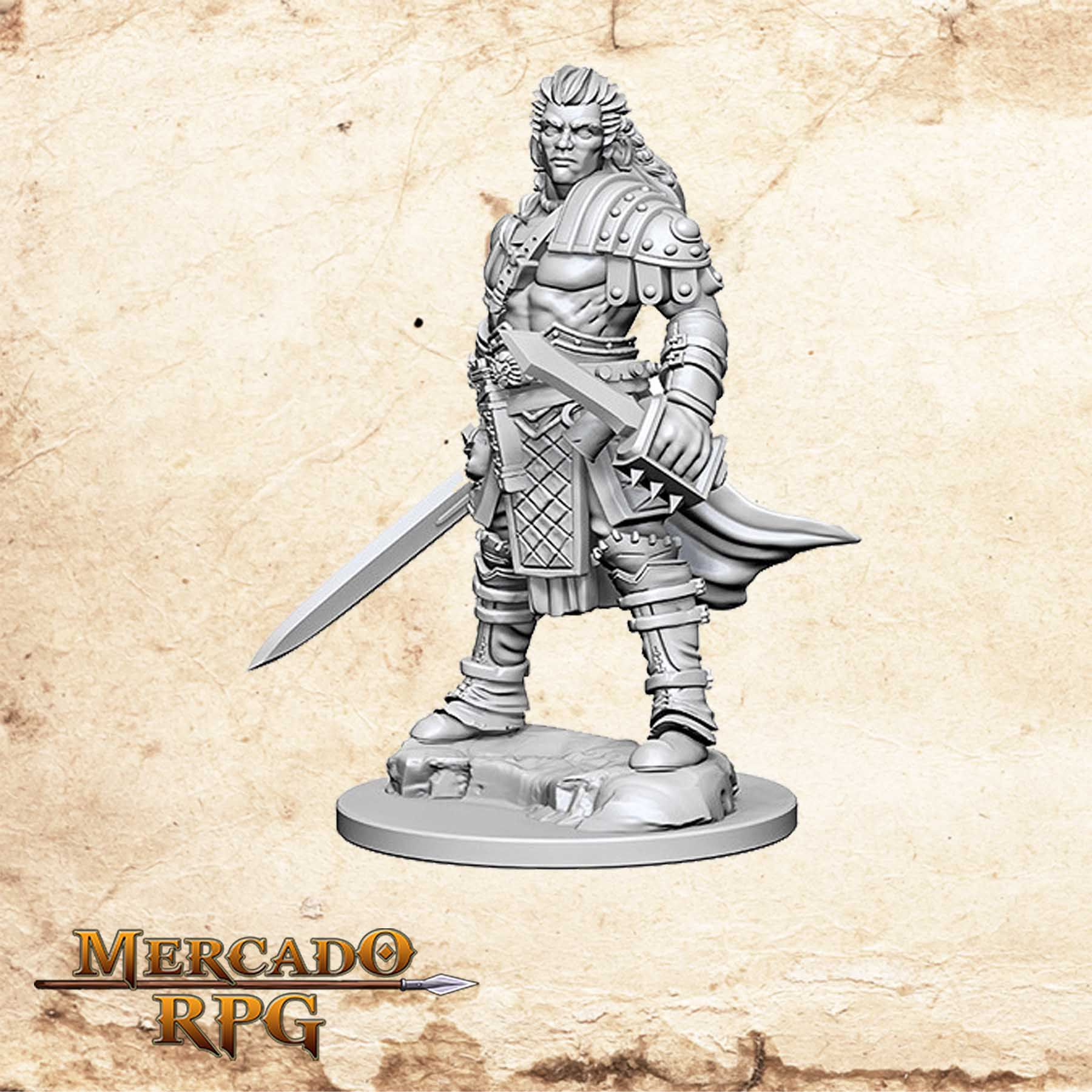 Human Male Fighter B - Miniatura RPG