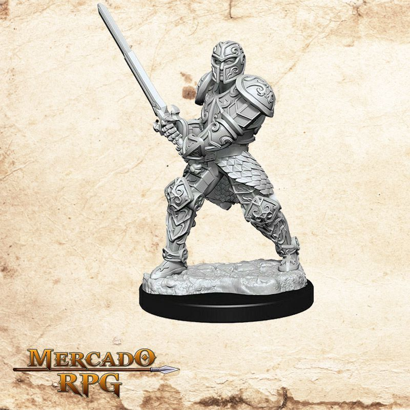 Human Male Fighter D - Miniatura RPG  - Mercado RPG