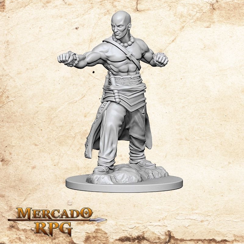 Human Male Monk A - Miniatura RPG  - Mercado RPG