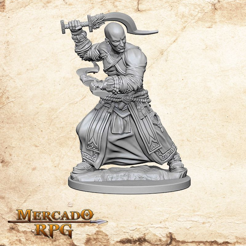 Human Male Monk B - Miniatura RPG  - Mercado RPG