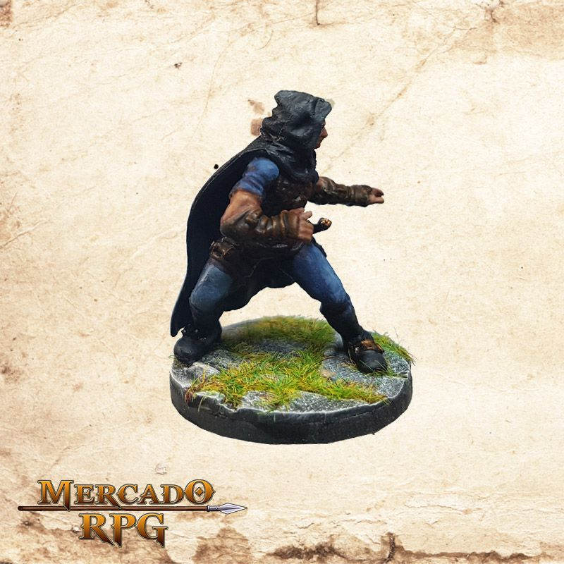 Human Male Rogue A - Wizkids Miniatures  - Mercado RPG