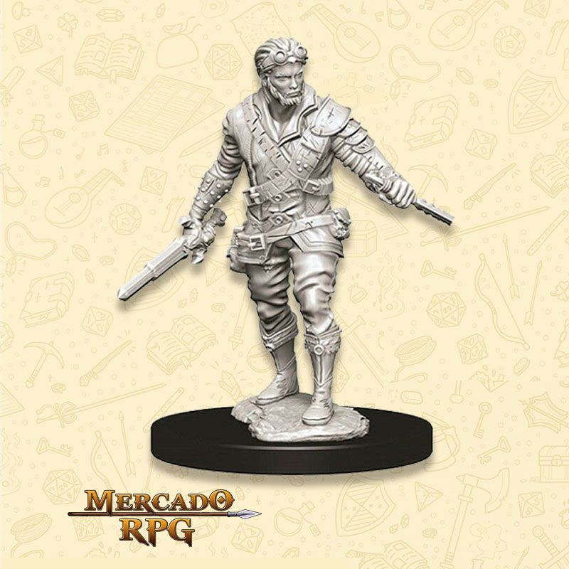 Human Male Rogue C - Miniatura RPG  - Mercado RPG