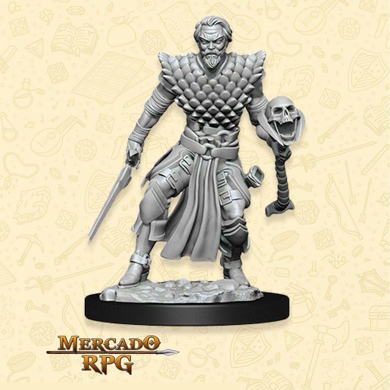 Human Male Warlock A - Miniatura RPG