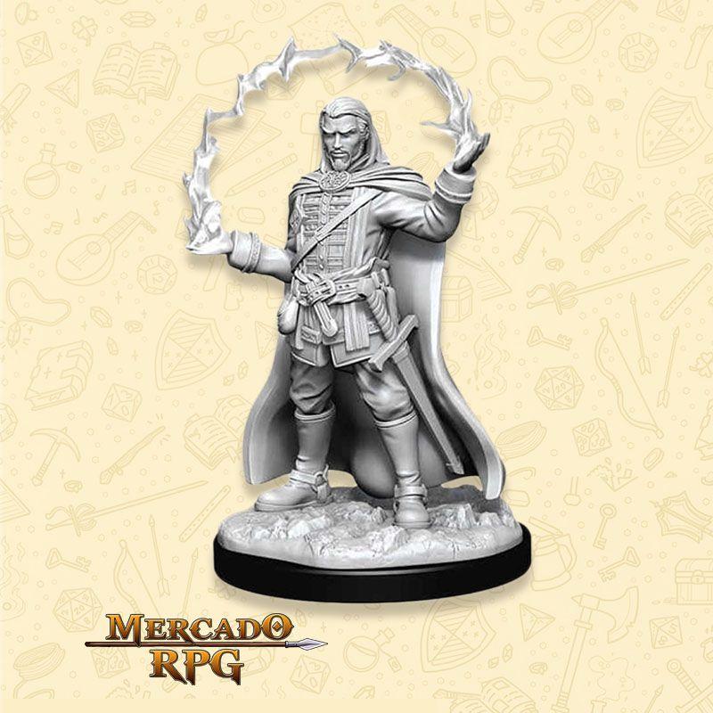 Human Male Wizard E - Miniatura RPG