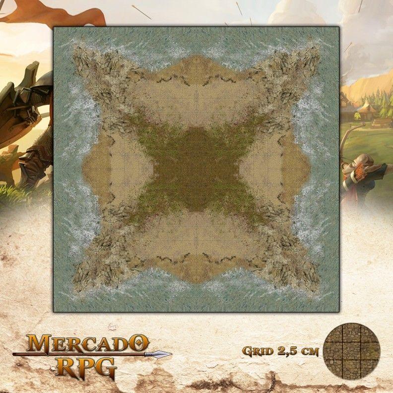 Ilha 50x50 - RPG Battle Grid D&D