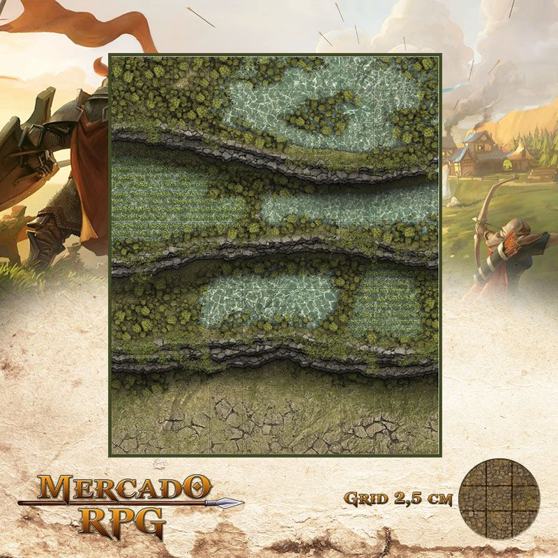 Jardim Suspenso 25x30 - RPG Battle Grid D&D  - Mercado RPG