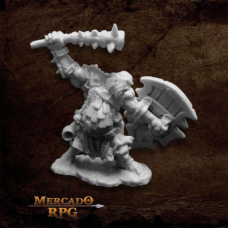 Kagunk, Ogre Chieftain - Miniatura RPG  - Mercado RPG