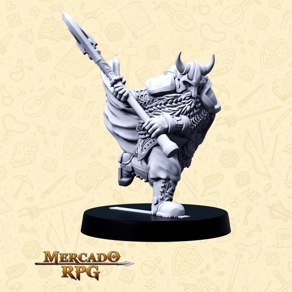 Khorgar O Decepador - Basilisco Miniaturas - Resina - Miniaturas para RPG