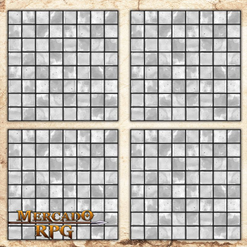 Kit de Grid Riscável B - RPG Battle Grid D&D