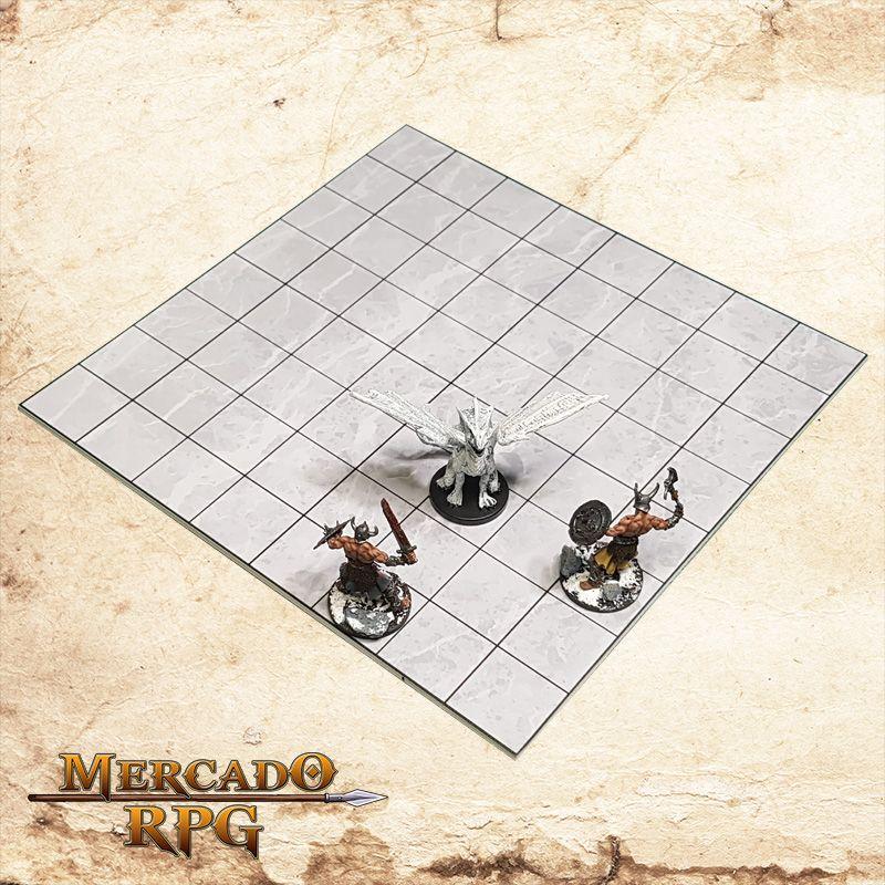 Kit de Grid Riscável A (Com Caixa / Bandeja de dados) - RPG Battle Grid D&D  - Mercado RPG