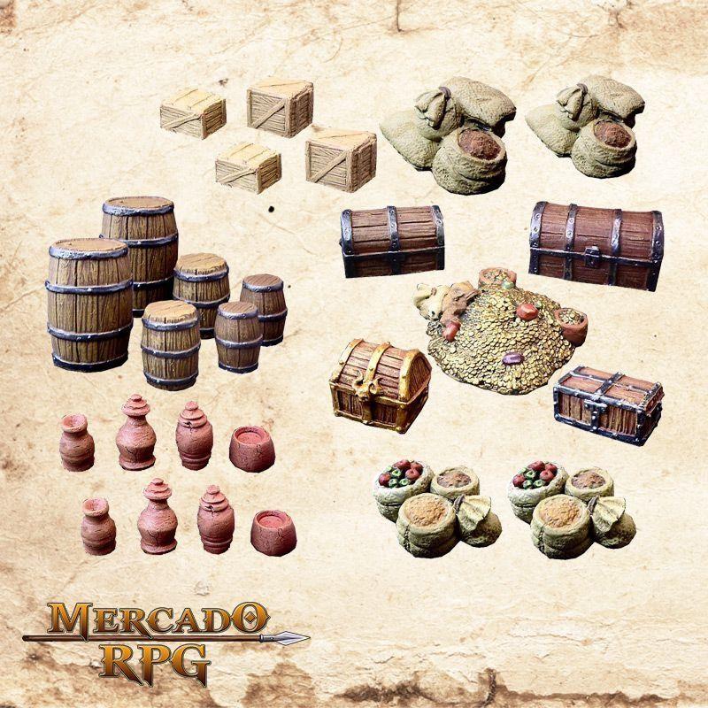 Kit Acessórios de masmorra A  - Mercado RPG