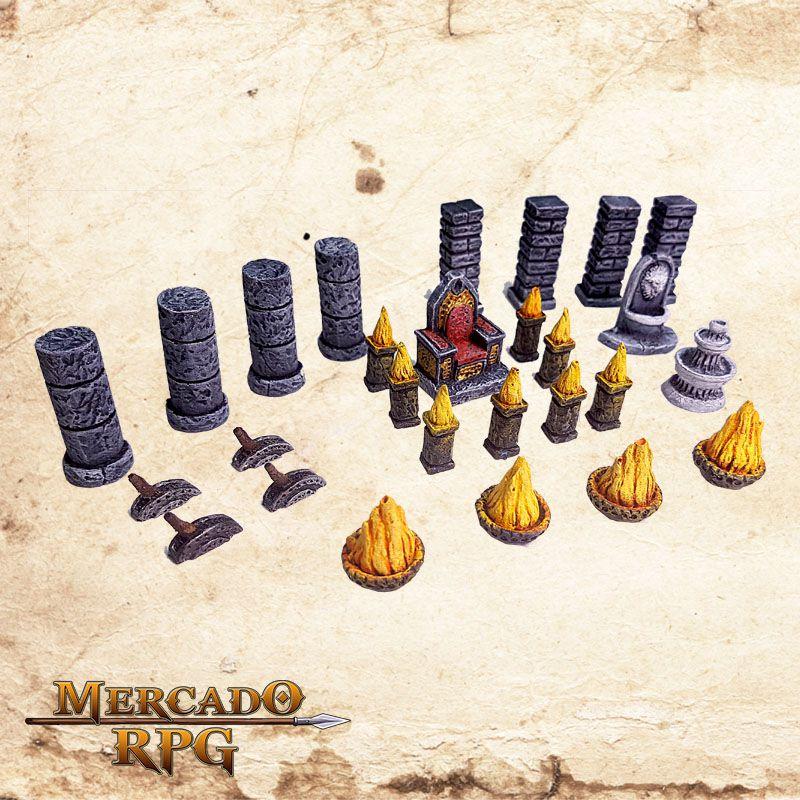 Kit Acessórios Masmorra  - Mercado RPG