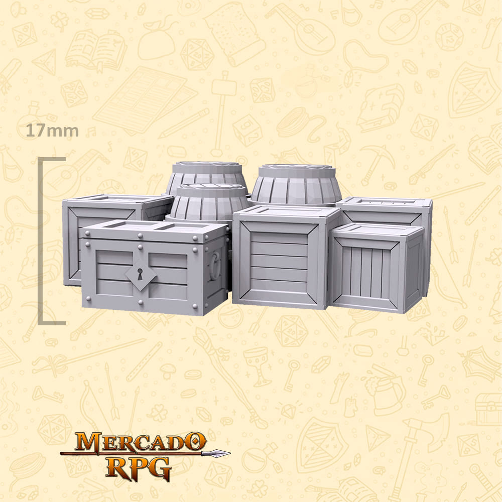 Kit Armazém B - Miniaturas de cenários para RPG e Boardgames