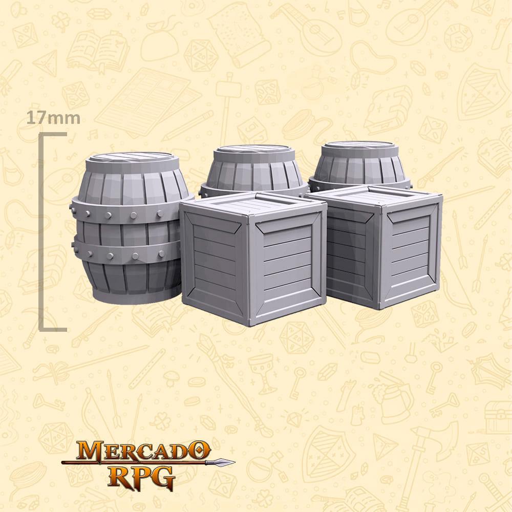 Kit Armazém C - Miniaturas de cenários para RPG e Boardgames