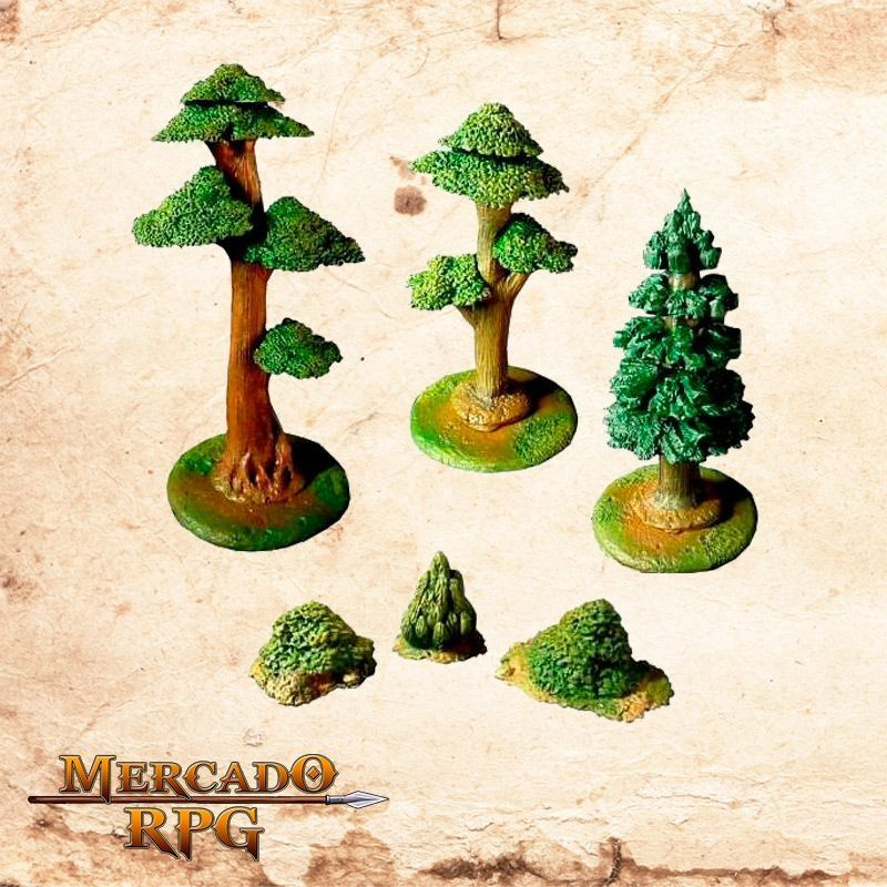 Kit Árvores e Arbustos  - Mercado RPG