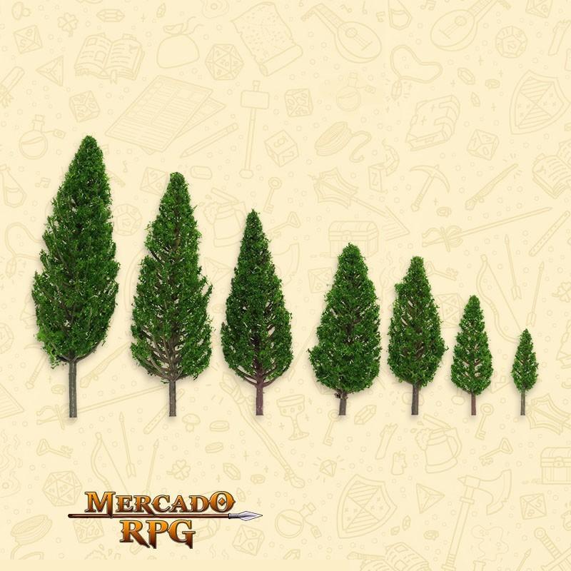 Kit Árvores - Pinheiros - 7 Peças-  RPG
