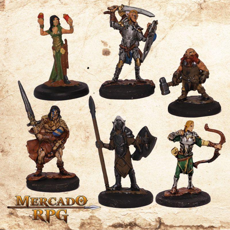 Kit Aventureiros D - Miniatura RPG