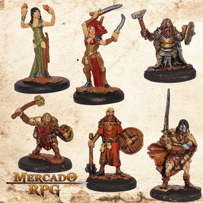 Kit Aventureiros H - Miniatura RPG  - Mercado RPG
