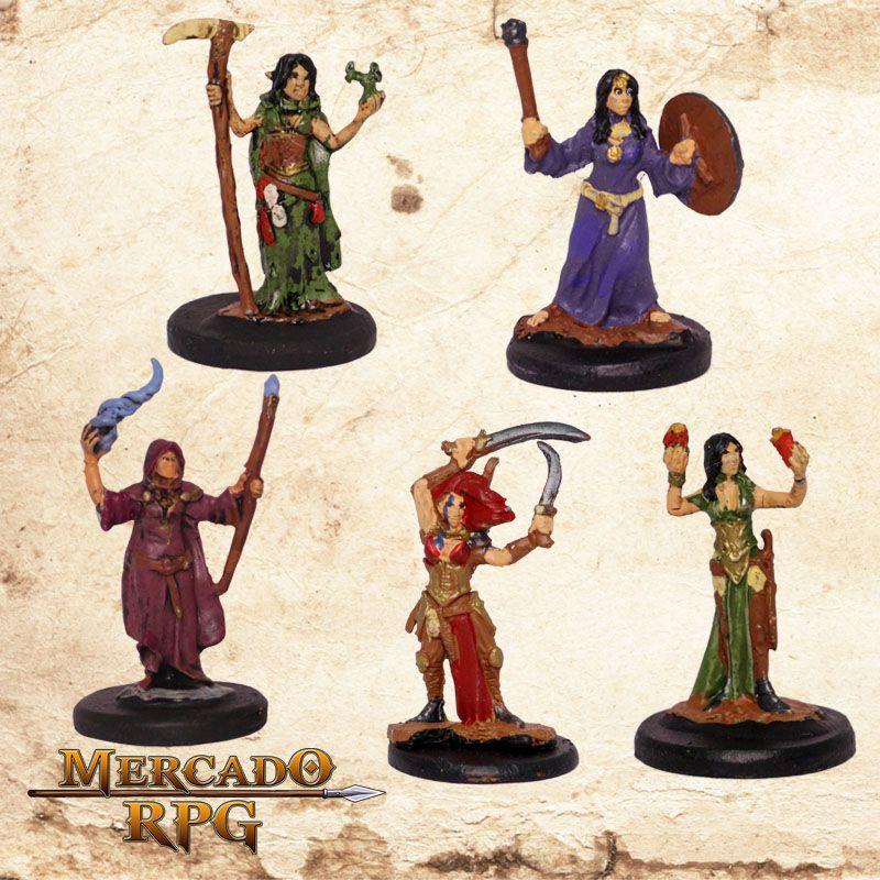 Kit Aventureiros I - Miniatura RPG  - Mercado RPG