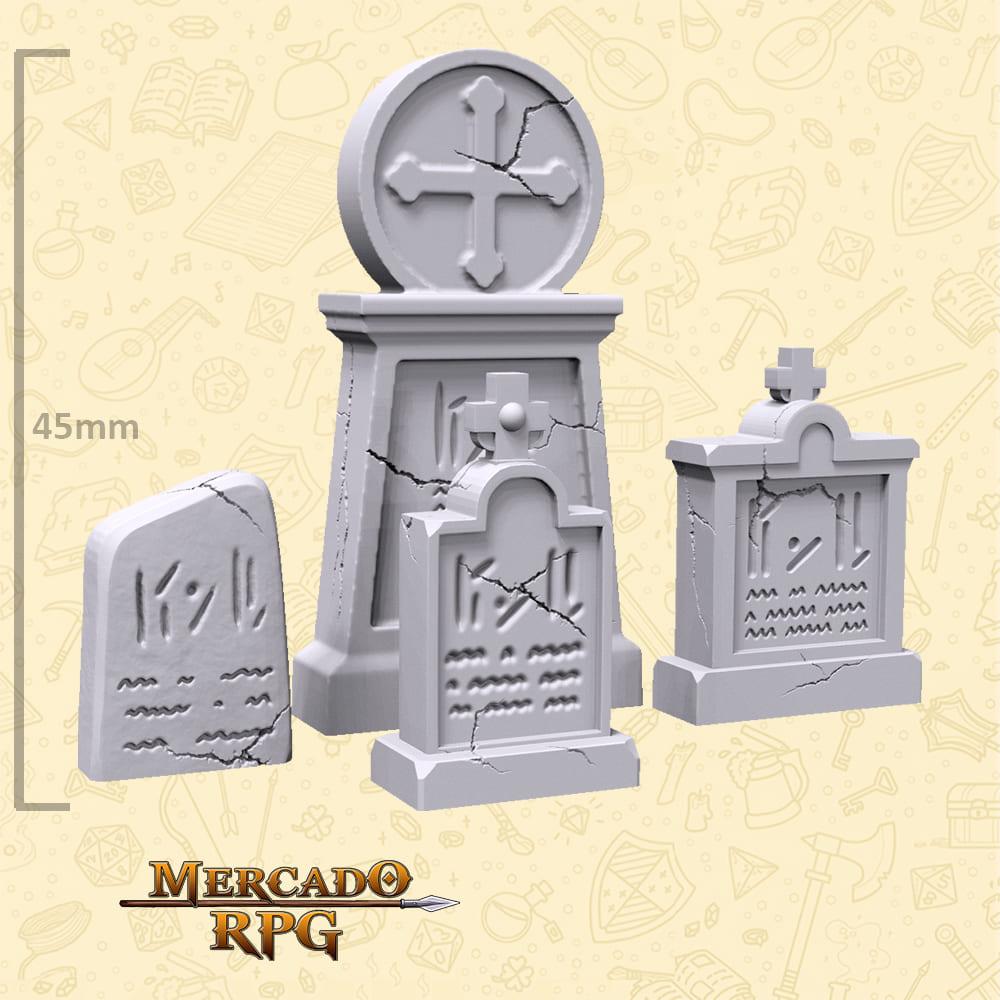 Kit Cemitério A - Miniaturas de cenários para RPG e Boardgames