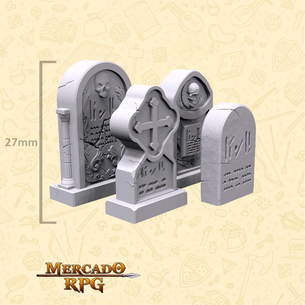 Kit Cemitério B - Miniaturas de cenários para RPG e Boardgames