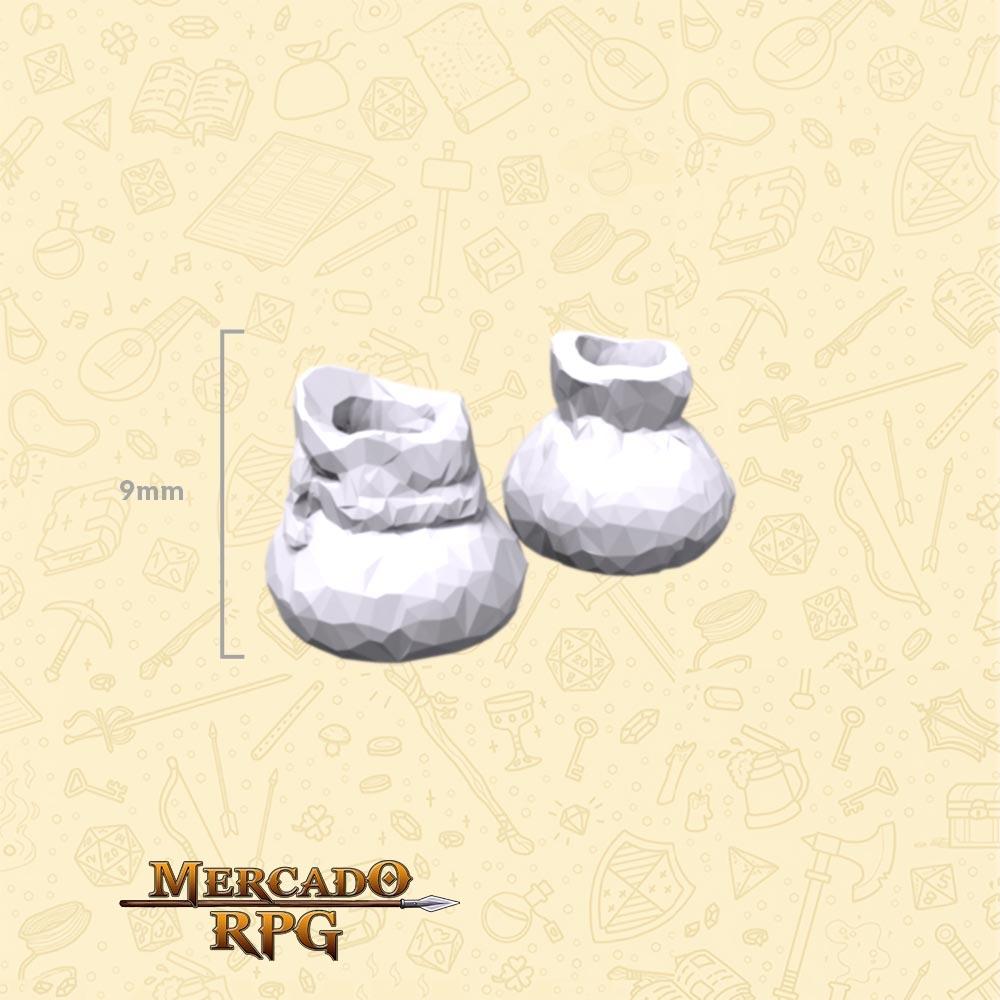 Kit com 2 Bags Medievais - Miniaturas de cenários para RPG e Boardgames