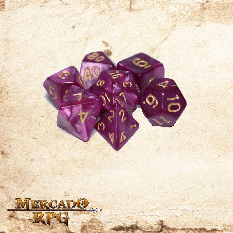 Kit Completo de Dados RPG RPG - Abissal Mist  - Mercado RPG