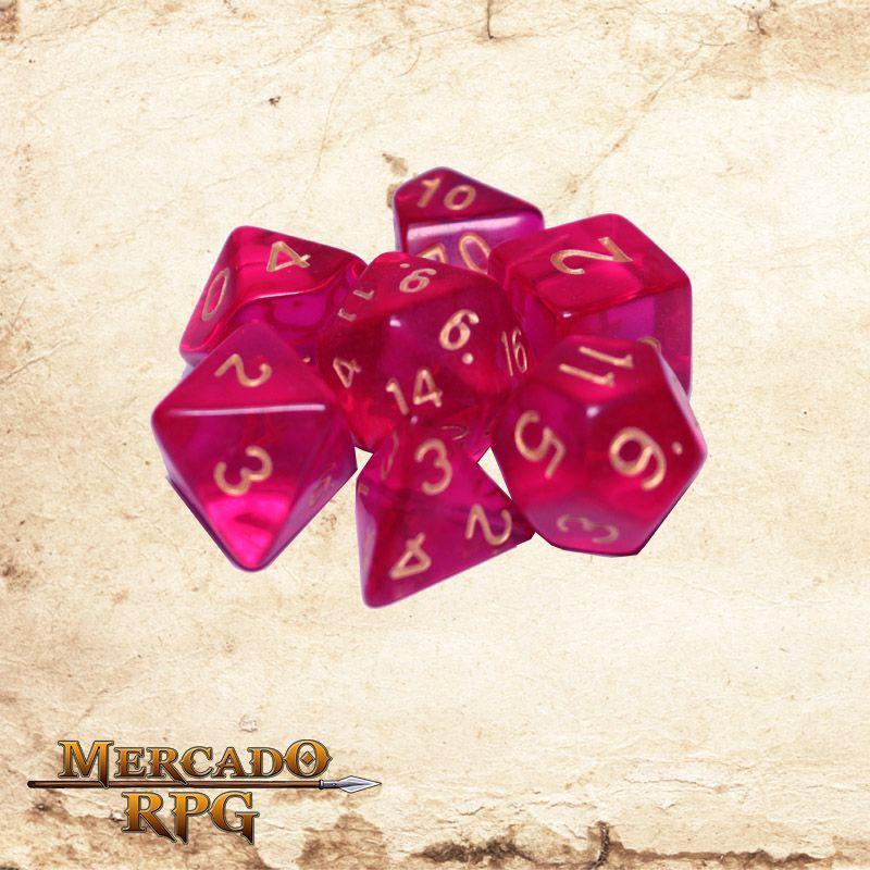 Kit Completo de dados - Ambrosia  - Mercado RPG