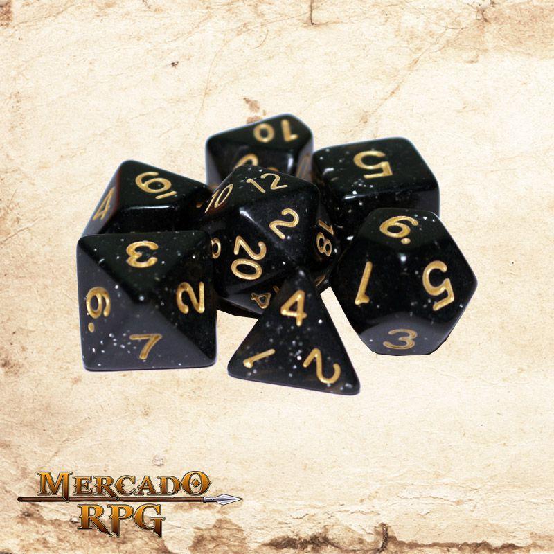 Kit Completo de dados - Stardust  - Mercado RPG