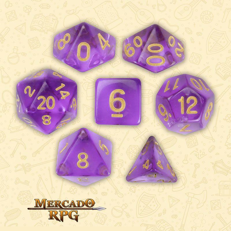 Kit Completo de Dados RPG - Ambrosia  - Mercado RPG