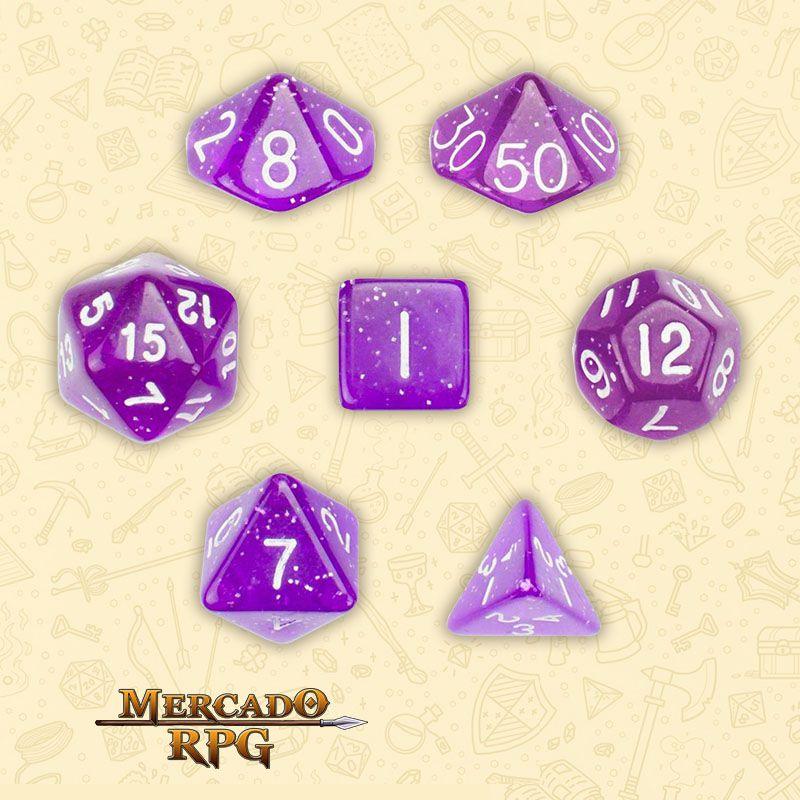 Kit Completo de Dados RPG - Arcane Aura  - Mercado RPG