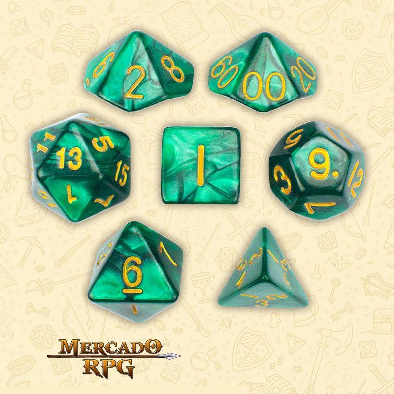 Kit Completo de Dados RPG - Basilisk Blood  - Mercado RPG