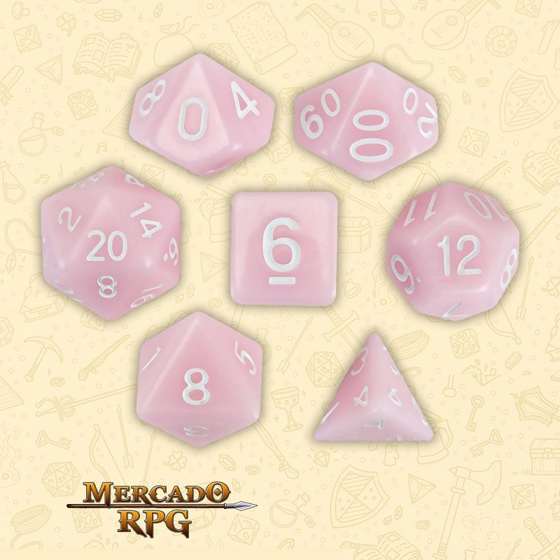 Kit Completo de Dados RPG - Cherry Blossom  - Mercado RPG