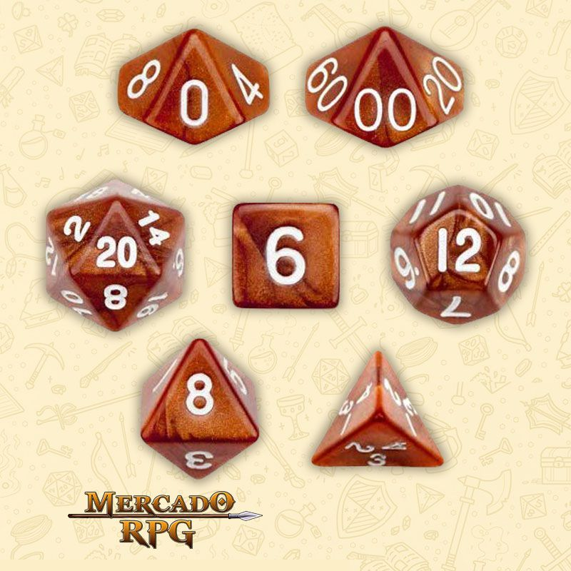Kit Completo de Dados RPG - Copper Sands  - Mercado RPG