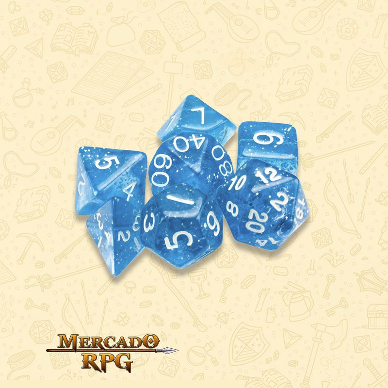 Kit Completo de Dados RPG - Diamond Dust