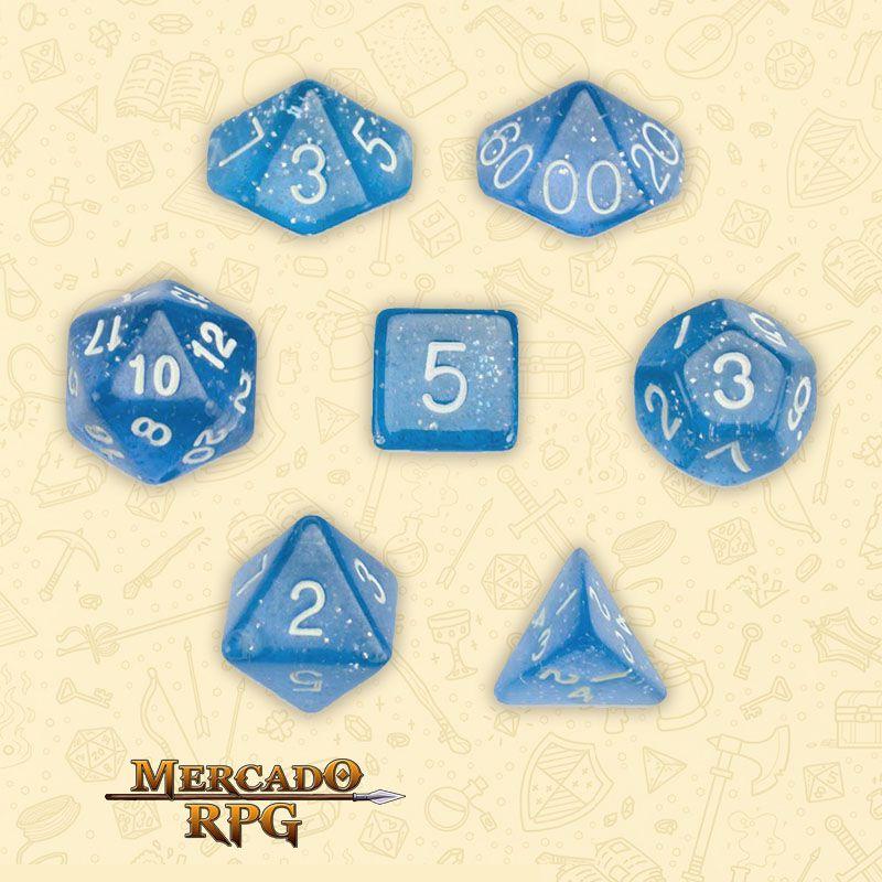 Kit Completo de Dados RPG - Diamond Dust  - Mercado RPG