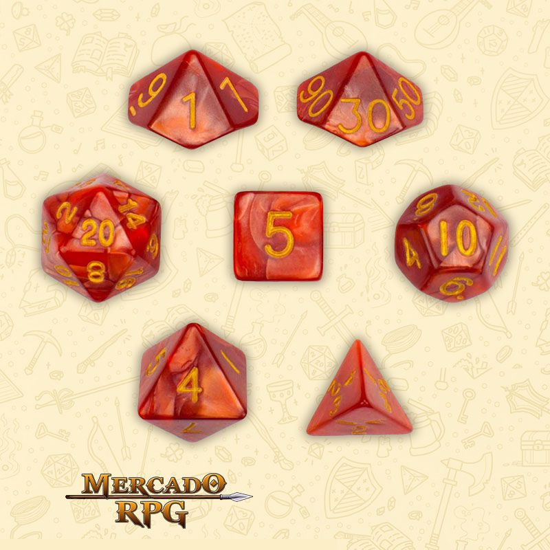 Kit Completo de Dados RPG - Dragon Scales  - Mercado RPG