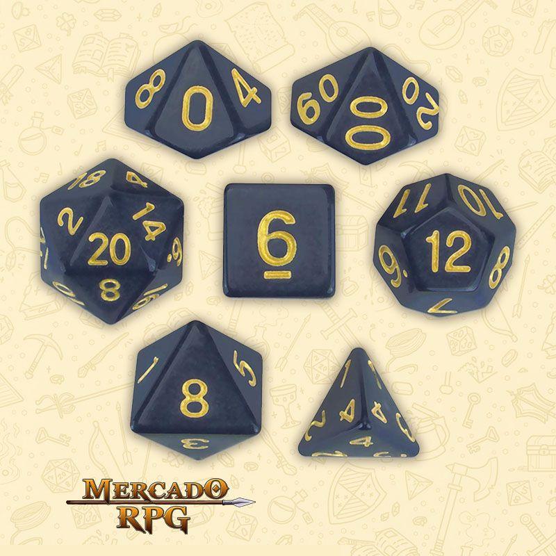 Kit Completo de Dados RPG - Dreamless Night  - Mercado RPG