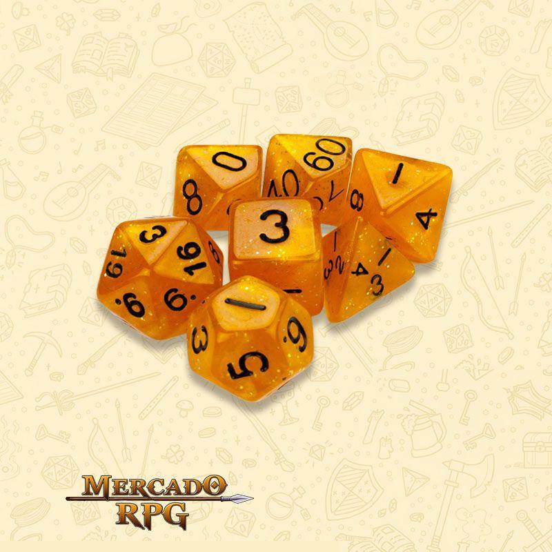 Kit Completo de Dados RPG - Dwarven Brandy  - Mercado RPG