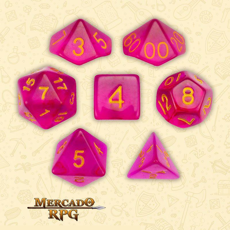 Kit Completo de Dados RPG - Faerie Fire  - Mercado RPG