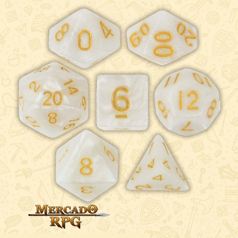 Kit Completo de Dados RPG - Forbidden Treasure  - Mercado RPG