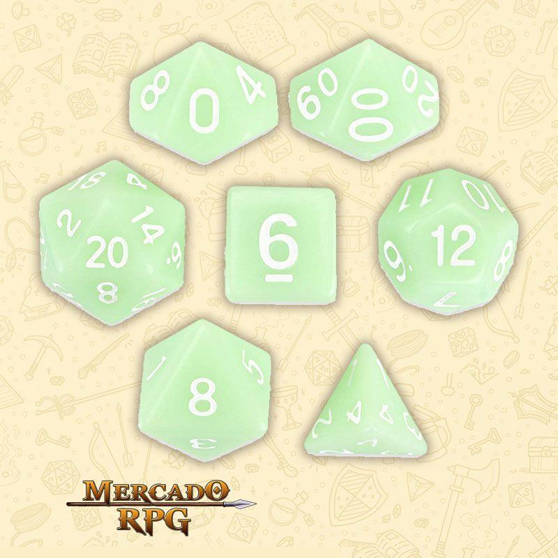 Kit Completo de Dados RPG - Ghost Jade  - Mercado RPG