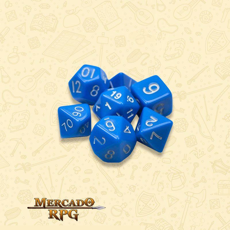 Kit Completo de Dados RPG - Opaque Blue