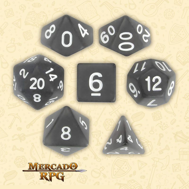 Kit Completo de Dados RPG - Penumbra  - Mercado RPG