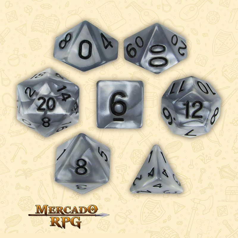 Kit Completo de Dados RPG - Quicksilver  - Mercado RPG