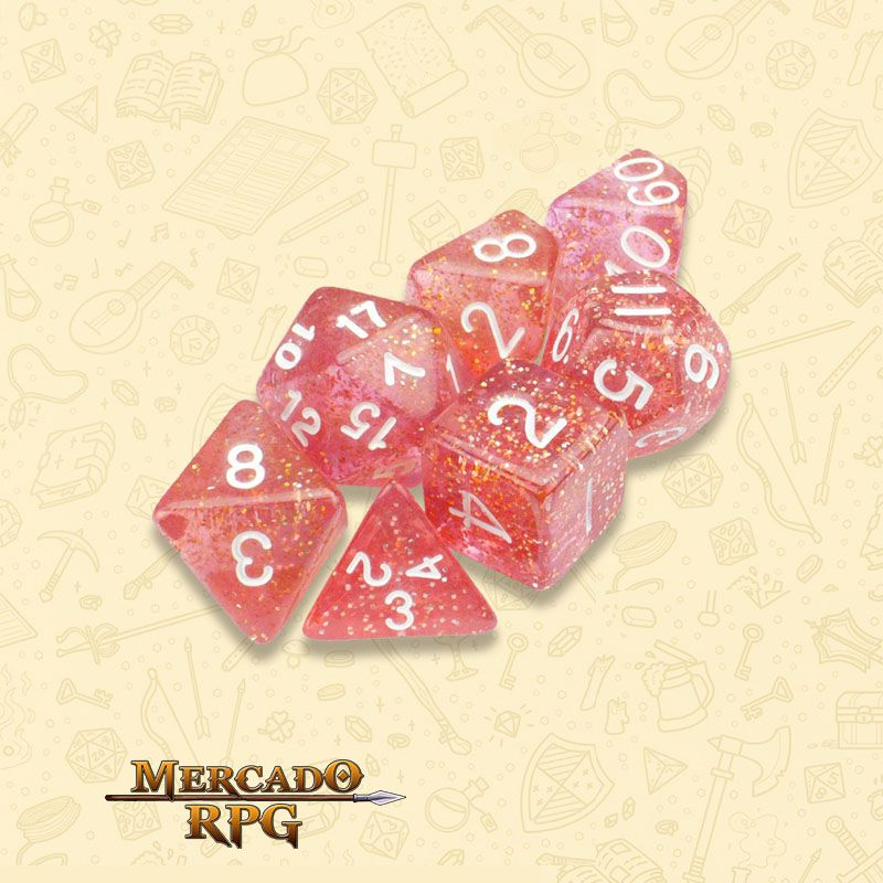 Kit Completo de Dados RPG - Royal Bubblegum