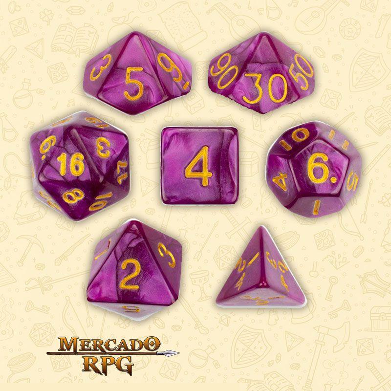 Kit Completo de Dados RPG RPG - Abyssal Mist  - Mercado RPG